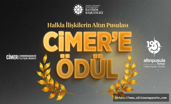 "CİMER ""ALTIN PUSULA"" ÖDÜLÜ KAZANDI"