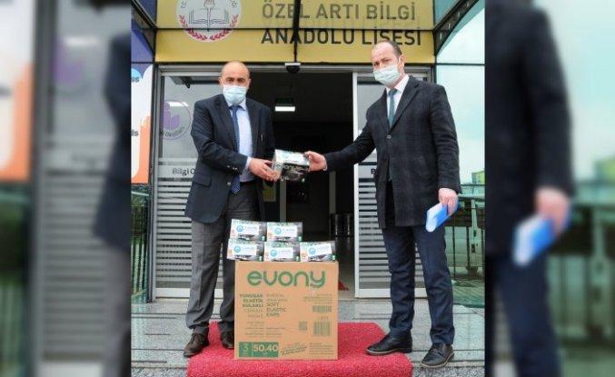 Canik Belediyesinden okullara maske desteği