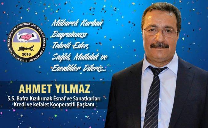 Başkan Ahmet Yılmaz'dan Kurban Bayramı Mesajı