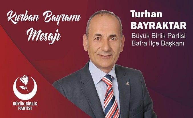 Bayraktar'dan Kurban Bayramı Mesajı