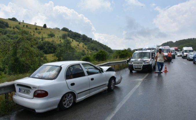 Samsun'daki trafik kazalarında 8 kişi yaralandı