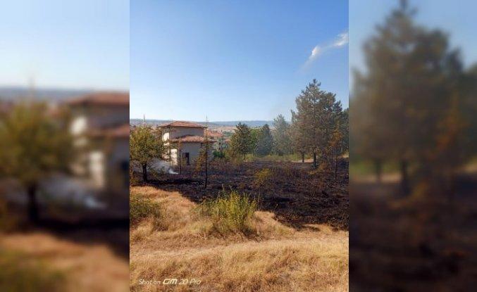 Kastamonu'da trafodan mezarlığa sıçrayan yangın söndürüldü