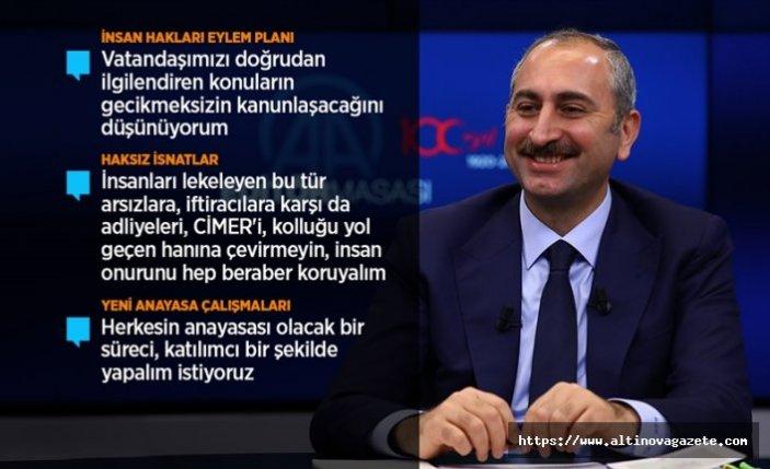 Adalet Bakanı Gül: İnsan Hakları Eylem Planı'nın iki yıllık uygulama süreci var
