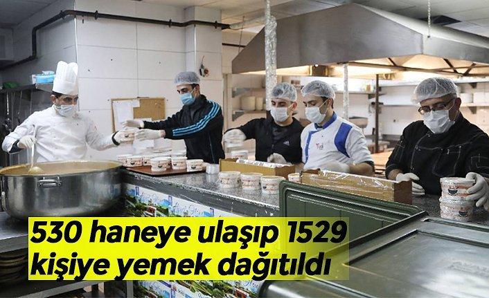530 haneye ulaşıp 1529 kişiye yemek dağıtıldı