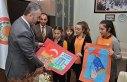 Öğrencilerden Belediye Başkanı Topaloğlu'na ziyaret