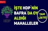 İŞTE HDP`NİN BAFRA`DA ALDIĞI OYLAR