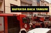 Bafra'da Baca Yangını