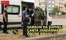 Jandarma önüne bırakılan şüpheli çanta fünyeyle patlatıldı
