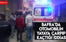 Bafra`da otomobilin yayaya çarpıp kaçtığı iddiası