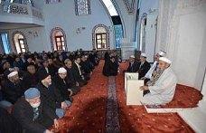 Trabzon'da açılan camide ilk vaazı şehit kaymakamın babası verdi