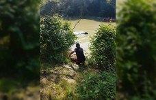 Irmakta mahsur kalan manda kurtarıldı