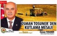 Osman Tosuner`den kutlama mesajı