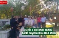ŞEHİT J. ER ERKUT YILMAZ KABRİ BAŞINDA DUALARLA ANILDI