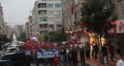Bafra'da Şehitlere Saygı Teröre Lanet Yürüyüşü Yapıldı