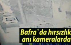 Bafra`da hırsızlık anı kameralarda