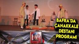Bafra`da Çanakkale Destanı Programı