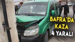 Bafra`da kaza 4 YARALI