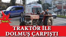 Bafra`da kaza : 1 yaralı