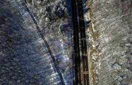 Bolu Dağı'nın kar manzarası havadan görüntülendi