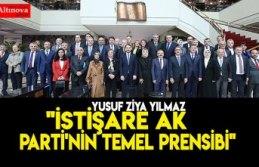 """İstişare AK Parti'nin temel prensibi"""