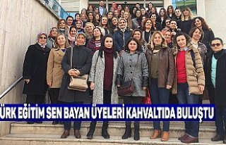 TÜRK EĞİTİM SEN BAYAN ÜYELERİ KAHVALTIDA BULUŞTU