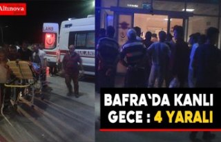 Bafra`da kanlı gece : 4 yaralı