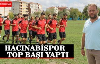 HACINABİSPOR TOP BAŞI YAPTI