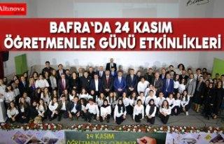Bafra`da 24 Kasım Öğretmenler Günü Etkinlikleri