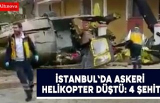 İstanbul Sancaktepe'de askeri helikopter düştü:...