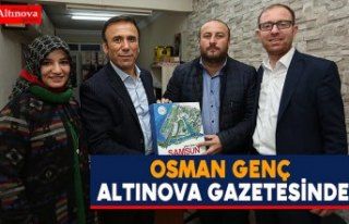 Osman Genç Altınova Gazetesi`nde