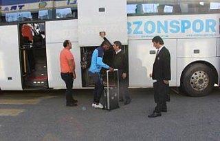 Trabzonspor kafilesi Malatya'ya gitti