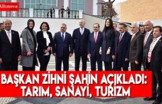 Başkan Zihni Şahin açıkladı: Tarım, sanayi,...