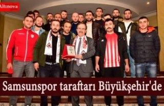 Samsunspor taraftarı Büyükşehir'de