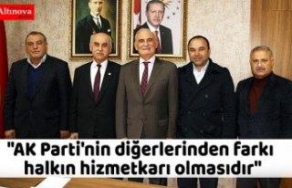 """""""AK Parti'nin diğerlerinden farkı halkın..."""