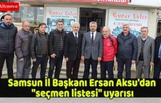 AK Parti Samsun İl Başkanı Ersan Aksu'dan...