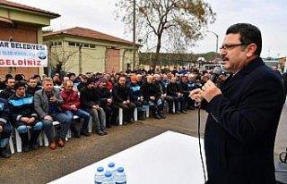 Ortahisar Belediye Başkanı Genç, işçilerle bir...