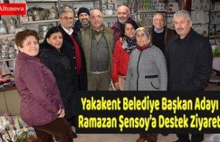 Yakakent Belediye Başkan Adayı Ramazan Şensoy'a...