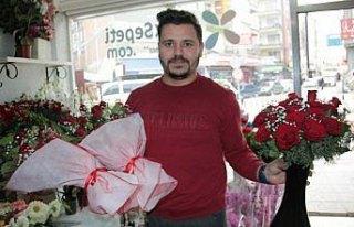 Bafra'da çiçekçiler