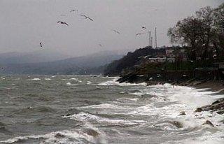 Batı Karadeniz'de şiddetli rüzgar