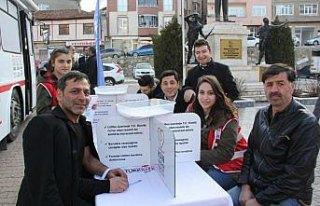 Havza'da kan bağışı toplama çalışmaları