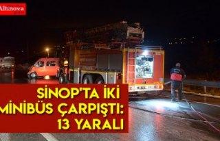 Sinop'ta iki minibüs çarpıştı: 13 yaralı