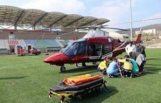 Ambulans uçak ARDS hastası için havalandı