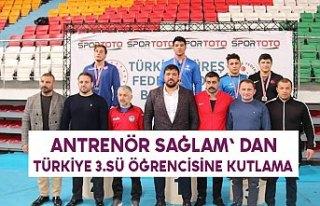 ANTRENÖR SAĞLAM' DAN TÜRKİYE 3.SÜ ÖĞRENCİSİNE...