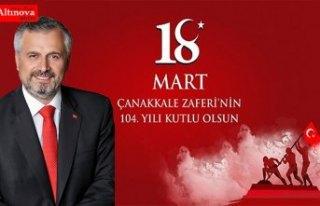 Başkan Kılıç`tan 18 Mart Çanakkale Zaferi mesajı