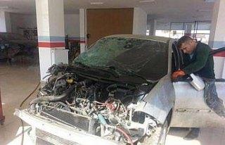 GÜNCELLEME - Ordu'da otomobil ırmağa yuvarlandı:...