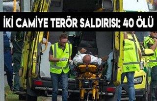 İki camiye terör saldırısı: 40 kişi yaşamını...
