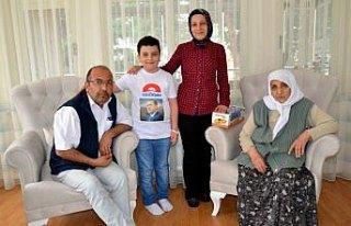 İlkokul öğrencisinin Cumhurbaşkanı Erdoğan sevinci