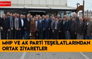 MHP VE AK PARTİ TEŞKİLATLARINDAN ORTAK ZİYARETLER