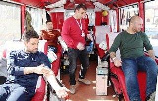 Merzifon ve Taşova'da kan bağışı