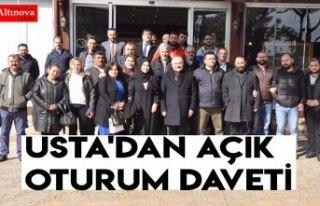 USTA'DAN AÇIK OTURUM DAVETİ